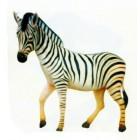 lebensgroßes Zebra