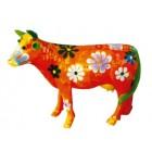 kleine Kuh bemalt mit Blüten