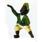 farbiger Junge klein mit grüner Kleidung