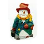 Schneemann in winterlicher Kleidung