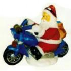 Weihnachtsmann klein auf Motorrad