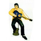 Elvis sitzend auf Barhocker mit Gitarre