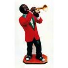 dunkelhäutiger Trompeter Jazz mittel