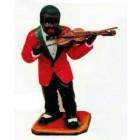 dunkelhäutiger Violinist Jazz mittel