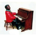 dunkelhäutiger Pianist Jazz mittel