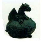 schwarzes Drachenbaby aus Ei