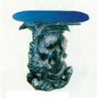 Glastisch mit Drachenfigur