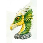 grüner Drachenkopf klein