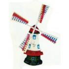 Windmühle klein mit bunten Flügeln