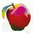 Apfel groß mit Blatt