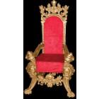 königlicher Thron mit rotem Bezug