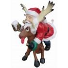 Weihnachtmann auf Rentier