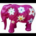 Elefant pink mit Blumen