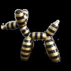 Hund als Luftballonfigur gestreift