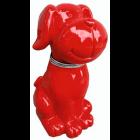 Hund sitzend rot