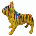 französische Bulldogge mit Farbverlauf