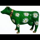 Kuh grün mit Margariten