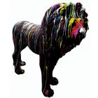 Löwe schwarz mit Farbverlauf