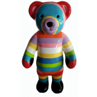 Teddybär bunt gestreift