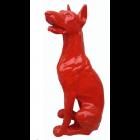 Hund Dobermann sitzend rot