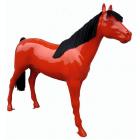 Pferd rot mit Echthaar schwarz