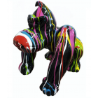 Gorilla Donkey schwarz mit bunten Farbverlauf