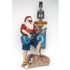 Weihnachtsmann in Sommeroutfit mit Gitarre