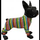 Französische Bulldogge Hund schwarz mit Streifen