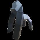 Polygonaler Gorilla XXL Schwarz