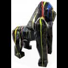Polygonaler laufender schwarzer Gorilla Farbverlauf