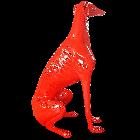 Roter Windhund Sitzend  XXL