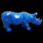 Polygonales Nashorn Blau