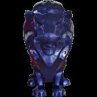 Sitzender Moderner blauer Löwe