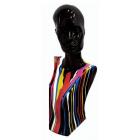 Frauenbüste mit bunten Farbverlauf