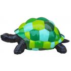 Schildkröte mit grünen Quadraten camouflage