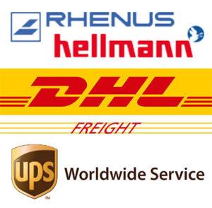 Unsere Artikel versenden wir mit Spedition und Paketdienst